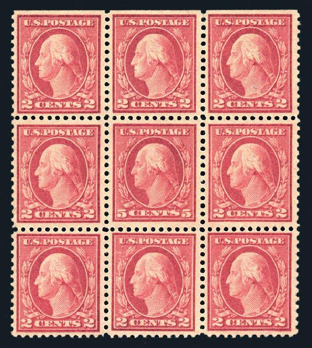 US Stamp Value Scott Cat. #505 - 1917 5c Washington Perf 11 Error. Harmer-Schau Auction Galleries, Aug 2015, Sale 106, Lot 1855