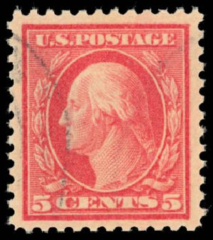 Value of US Stamps Scott Cat. 505 - 1917 5c Washington Perf 11 Error. Daniel Kelleher Auctions, Aug 2015, Sale 672, Lot 2772