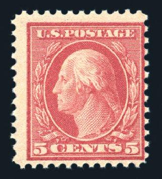 US Stamps Values Scott # 505 - 1917 5c Washington Perf 11 Error. Harmer-Schau Auction Galleries, Aug 2015, Sale 106, Lot 1853