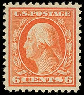 US Stamp Value Scott Catalog # 506 - 1917 6c Washington Perf 11. H.R. Harmer, Oct 2014, Sale 3006, Lot 1388