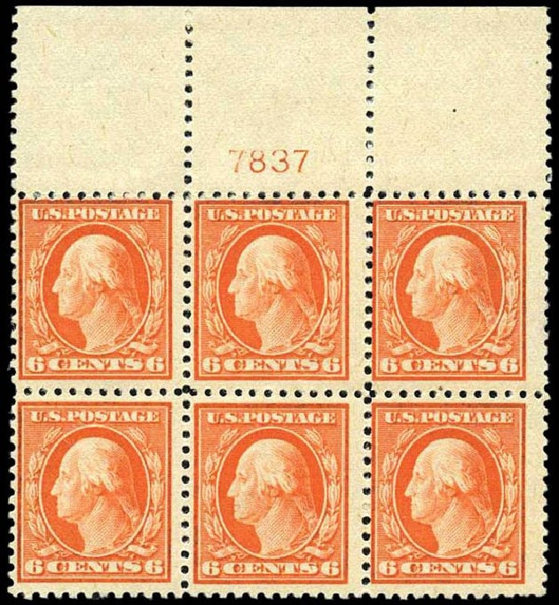 Costs of US Stamps Scott Catalogue #506 - 6c 1917 Washington Perf 11. Harmer-Schau Auction Galleries, Oct 2013, Sale 99, Lot 189