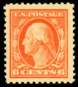 Values of US Stamp Scott Catalogue #506 - 1917 6c Washington Perf 11. Daniel Kelleher Auctions, Dec 2012, Sale 633, Lot 880