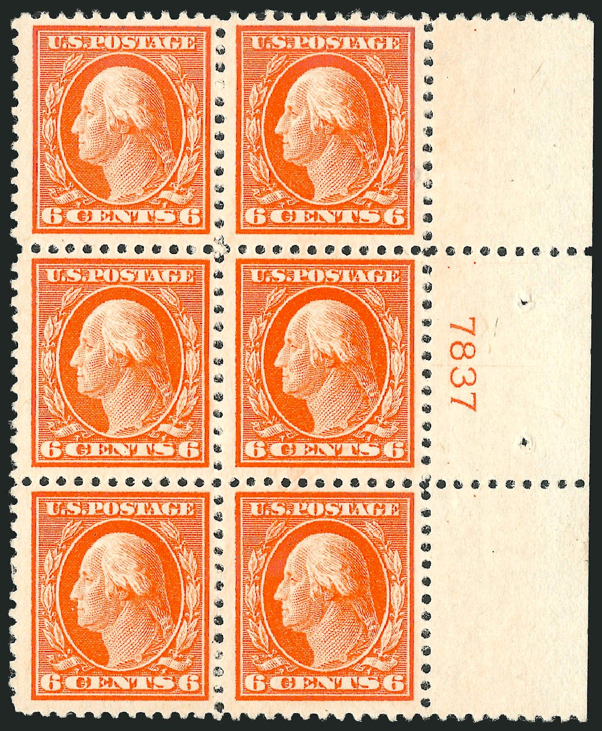 US Stamps Prices Scott Catalog # 506: 1917 6c Washington Perf 11. Robert Siegel Auction Galleries, Mar 2014, Sale 1067, Lot 1580