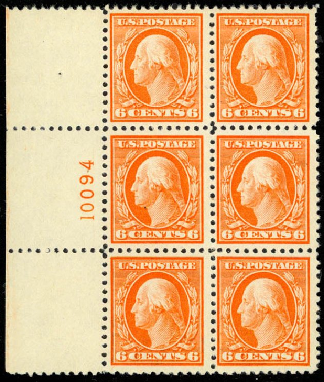 Costs of US Stamps Scott Cat. 506: 6c 1917 Washington Perf 11. Daniel Kelleher Auctions, Mar 2013, Sale 635, Lot 571