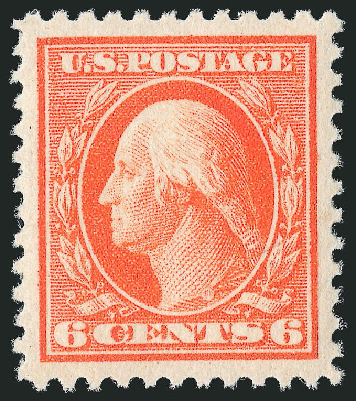 US Stamp Value Scott Catalogue 506: 1917 6c Washington Perf 11. Robert Siegel Auction Galleries, Nov 2013, Sale 1061, Lot 3971