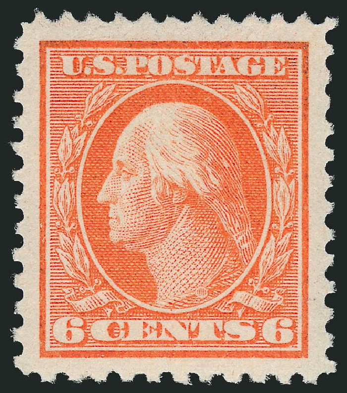 US Stamps Value Scott Catalogue 506: 1917 6c Washington Perf 11. Robert Siegel Auction Galleries, Dec 2013, Sale 1062, Lot 704