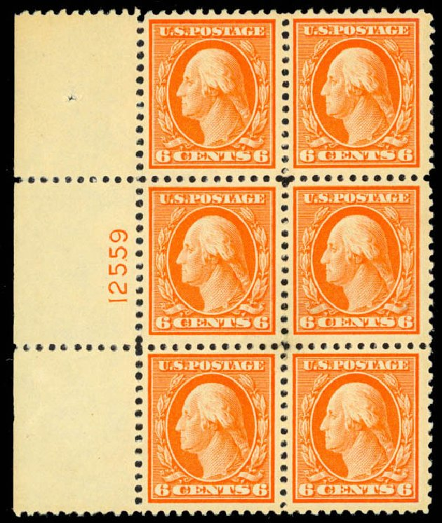 US Stamp Values Scott Catalogue #506 - 6c 1917 Washington Perf 11. Daniel Kelleher Auctions, Mar 2013, Sale 635, Lot 572