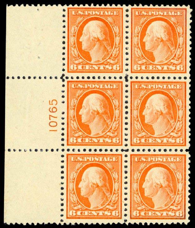 Value of US Stamp Scott Catalog # 506 - 1917 6c Washington Perf 11. Daniel Kelleher Auctions, Dec 2013, Sale 640, Lot 432