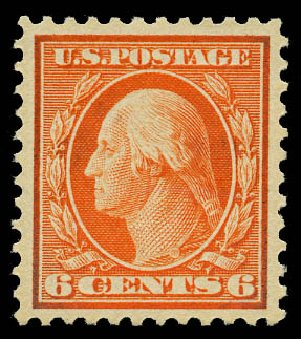 Price of US Stamp Scott #506: 1917 6c Washington Perf 11. Daniel Kelleher Auctions, May 2015, Sale 669, Lot 3102