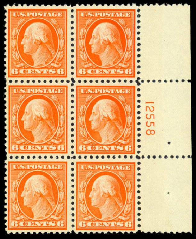 US Stamps Prices Scott 506 - 1917 6c Washington Perf 11. Daniel Kelleher Auctions, Sep 2013, Sale 639, Lot 3616