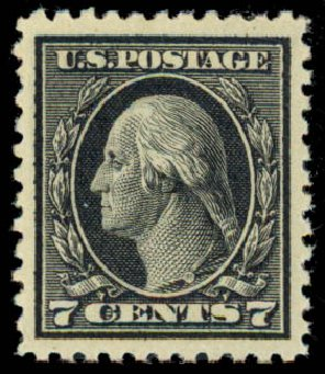 Value of US Stamps Scott Catalog 507 - 1917 7c Washington Perf 11. Daniel Kelleher Auctions, Sep 2013, Sale 639, Lot 3617