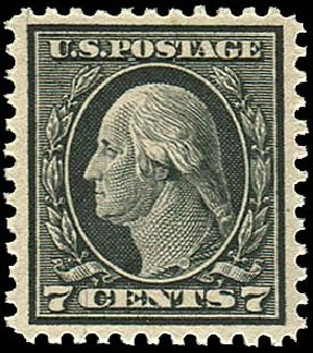 US Stamp Prices Scott # 507 - 1917 7c Washington Perf 11. Regency-Superior, Nov 2014, Sale 108, Lot 917