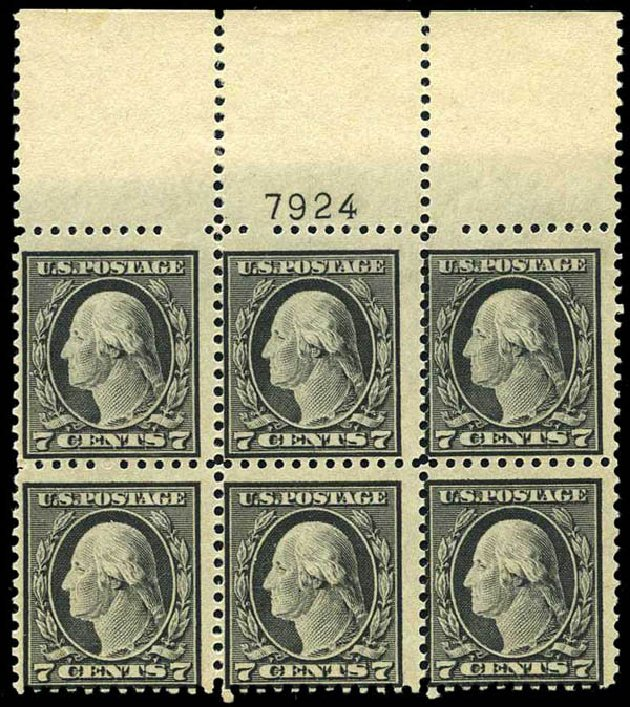 Value of US Stamps Scott Catalogue # 507 - 7c 1917 Washington Perf 11. Harmer-Schau Auction Galleries, Oct 2013, Sale 99, Lot 190