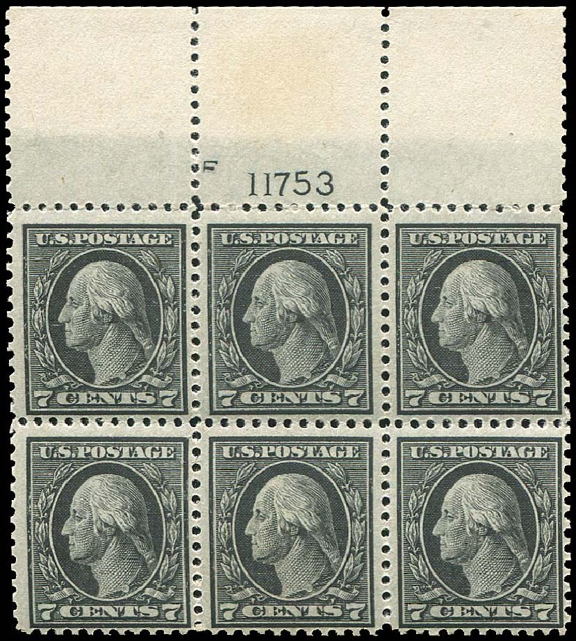 Costs of US Stamps Scott Catalogue 507 - 7c 1917 Washington Perf 11. Regency-Superior, Aug 2015, Sale 112, Lot 1350