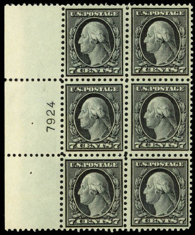 Value of US Stamps Scott Catalog 507: 1917 7c Washington Perf 11. Daniel Kelleher Auctions, Mar 2013, Sale 635, Lot 575