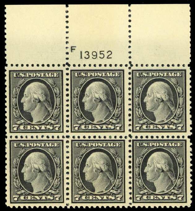 Values of US Stamp Scott Cat. # 507 - 1917 7c Washington Perf 11. Daniel Kelleher Auctions, Apr 2013, Sale 636, Lot 382