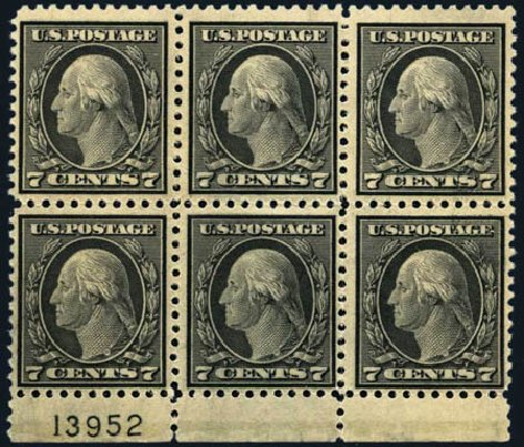 Prices of US Stamp Scott Catalogue # 507: 1917 7c Washington Perf 11. Harmer-Schau Auction Galleries, May 2013, Sale 97, Lot 393