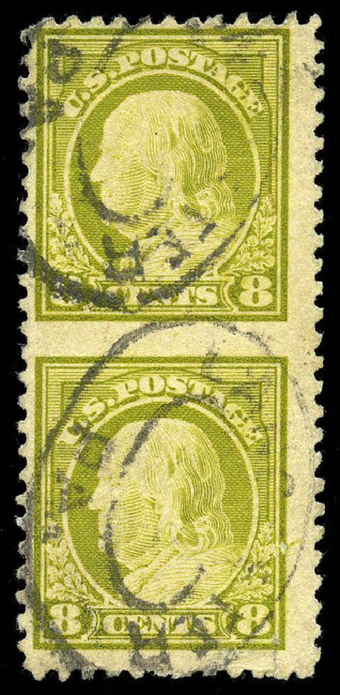Prices of US Stamp Scott Cat. 508 - 1917 8c Franklin Perf 11. Matthew Bennett International, Feb 2015, Sale 351, Lot 207