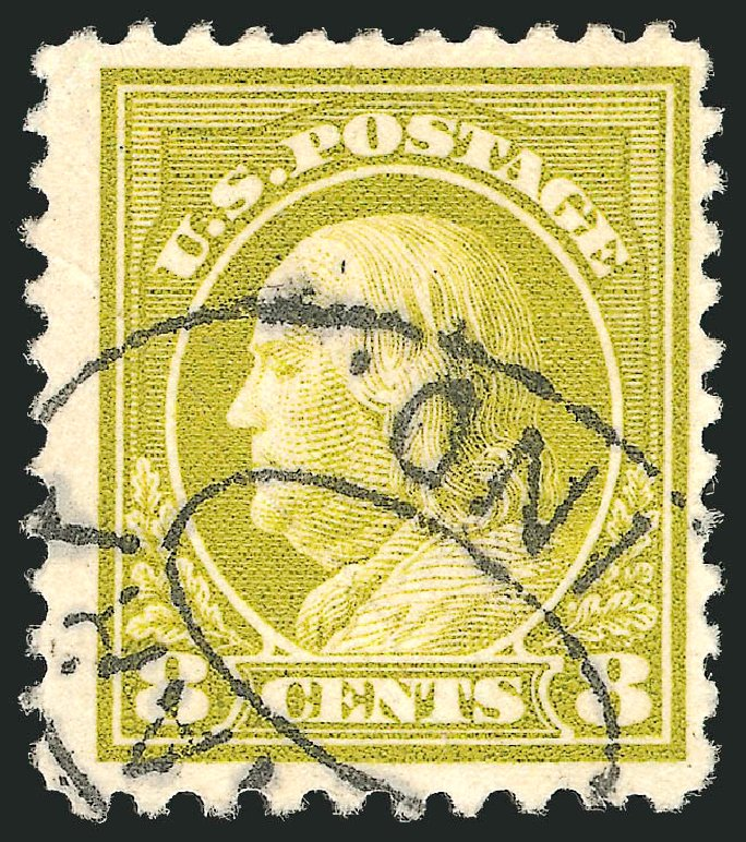 Us Stamps Price Scott Cat 508 1917 8c Franklin Perf 11