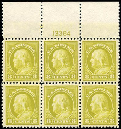 Cost of US Stamps Scott Cat. 508 - 8c 1917 Franklin Perf 11. Schuyler J. Rumsey Philatelic Auctions, Apr 2015, Sale 60, Lot 2929