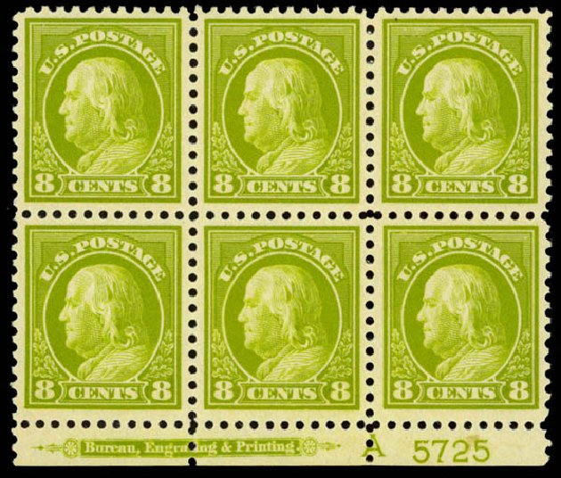 US Stamps Value Scott Catalogue # 508: 8c 1917 Franklin Perf 11. Daniel Kelleher Auctions, Sep 2014, Sale 655, Lot 711