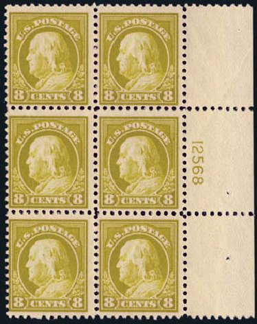 Prices of US Stamps Scott Catalog #508: 1917 8c Franklin Perf 11. Harmer-Schau Auction Galleries, May 2013, Sale 97, Lot 394