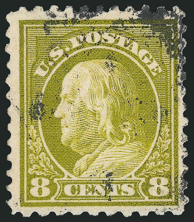 Value of US Stamp Scott Cat. # 508: 1917 8c Franklin Perf 11. Robert Siegel Auction Galleries, Feb 2015, Sale 1093, Lot 474