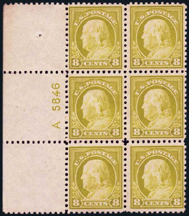 US Stamp Price Scott Catalogue # 508 - 8c 1917 Franklin Perf 11. Harmer-Schau Auction Galleries, Jan 2014, Sale 100, Lot 596