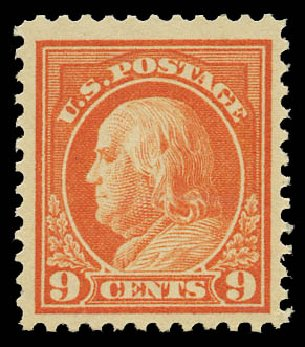 US Stamps Price Scott Catalog 509: 9c 1917 Franklin Perf 11. Daniel Kelleher Auctions, May 2015, Sale 669, Lot 3103