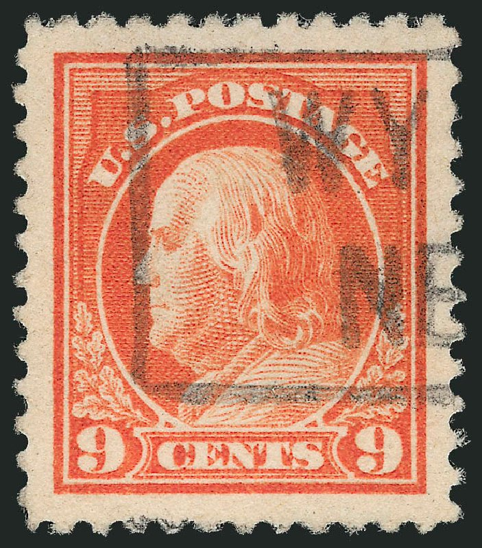 Value of US Stamps Scott #509 - 9c 1917 Franklin Perf 11. Robert Siegel Auction Galleries, Oct 2012, Sale 1032, Lot 3596