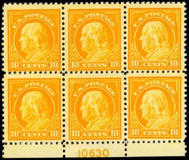 Costs of US Stamp Scott Catalog #510: 10c 1917 Franklin Perf 11. Daniel Kelleher Auctions, Mar 2013, Sale 635, Lot 587