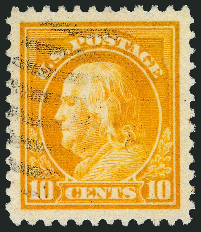 Value of US Stamps Scott 510 - 10c 1917 Franklin Perf 11. Robert Siegel Auction Galleries, Feb 2015, Sale 1093, Lot 457