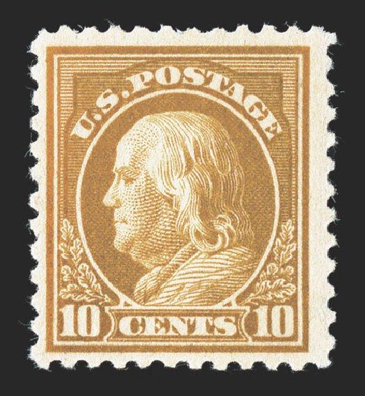US Stamps Values Scott Catalog # 510 - 1917 10c Franklin Perf 11. Spink Shreves Galleries, Nov 2012, Sale 141, Lot 178