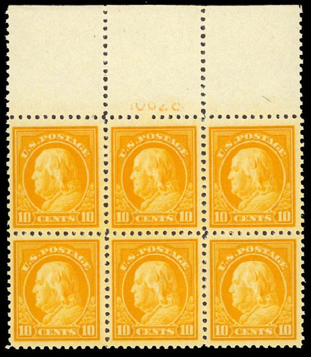 Price of US Stamps Scott 510 - 10c 1917 Franklin Perf 11. Daniel Kelleher Auctions, Oct 2012, Sale 632, Lot 1389