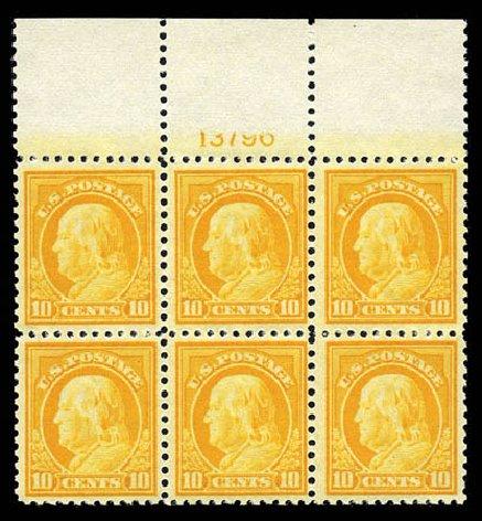 Costs of US Stamps Scott # 510: 1917 10c Franklin Perf 11. Matthew Bennett International, Mar 2012, Sale 344, Lot 4634