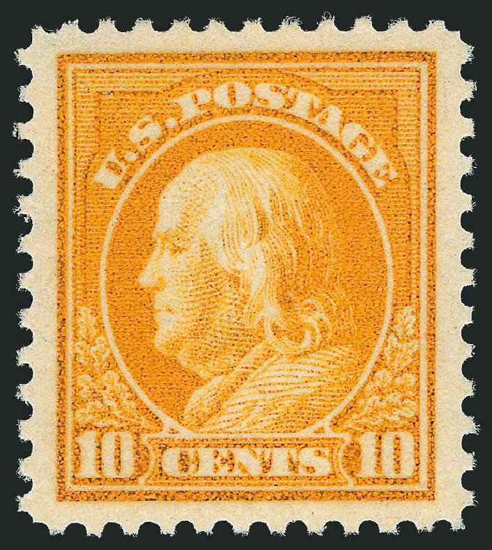 US Stamps Value Scott Catalogue #510: 10c 1917 Franklin Perf 11. Robert Siegel Auction Galleries, Oct 2011, Sale 1014, Lot 2004