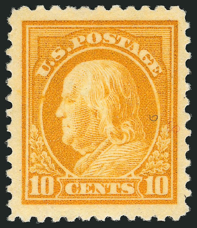 Cost of US Stamps Scott Catalog # 510 - 10c 1917 Franklin Perf 11. Robert Siegel Auction Galleries, Mar 2012, Sale 1019, Lot 865
