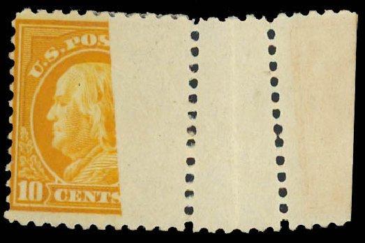 Values of US Stamp Scott Catalogue 510 - 1917 10c Franklin Perf 11. Daniel Kelleher Auctions, Aug 2012, Sale 631, Lot 1402
