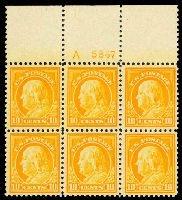 Costs of US Stamps Scott Catalog 510: 10c 1917 Franklin Perf 11. Daniel Kelleher Auctions, Apr 2013, Sale 636, Lot 386