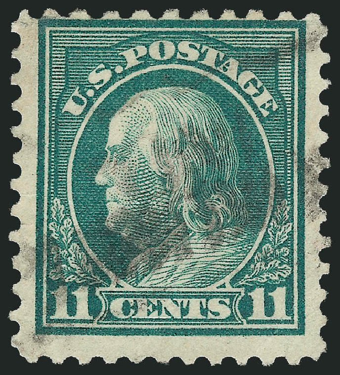 US Stamps Price Scott #511: 11c 1917 Franklin Perf 11. Robert Siegel Auction Galleries, Feb 2015, Sale 1093, Lot 477