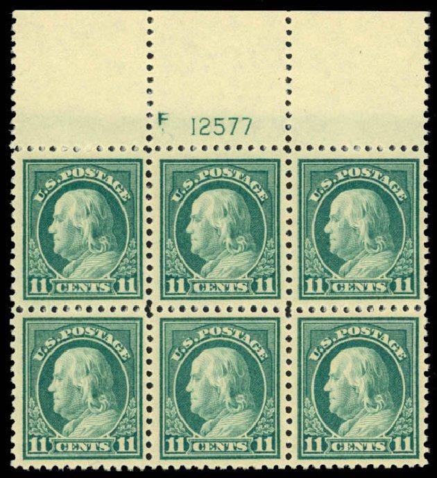 US Stamp Value Scott Catalog # 511: 11c 1917 Franklin Perf 11. Daniel Kelleher Auctions, Mar 2013, Sale 635, Lot 588