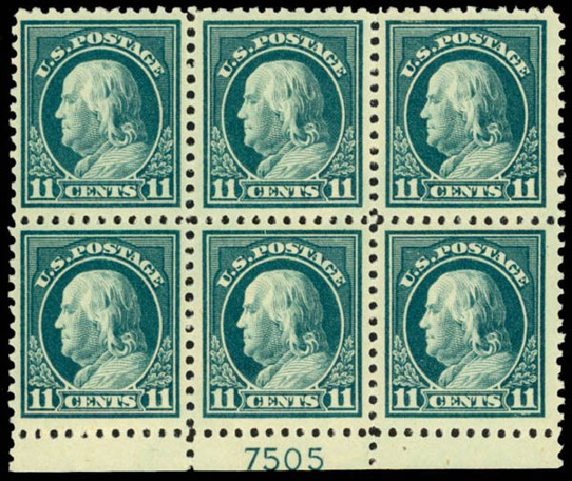 Prices of US Stamp Scott Catalog # 511 - 1917 11c Franklin Perf 11. Daniel Kelleher Auctions, Mar 2013, Sale 635, Lot 589