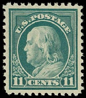 US Stamps Values Scott Cat. # 511 - 1917 11c Franklin Perf 11. H.R. Harmer, Oct 2014, Sale 3006, Lot 1390