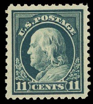 US Stamps Value Scott Cat. #511: 1917 11c Franklin Perf 11. Daniel Kelleher Auctions, Apr 2012, Sale 629, Lot 370
