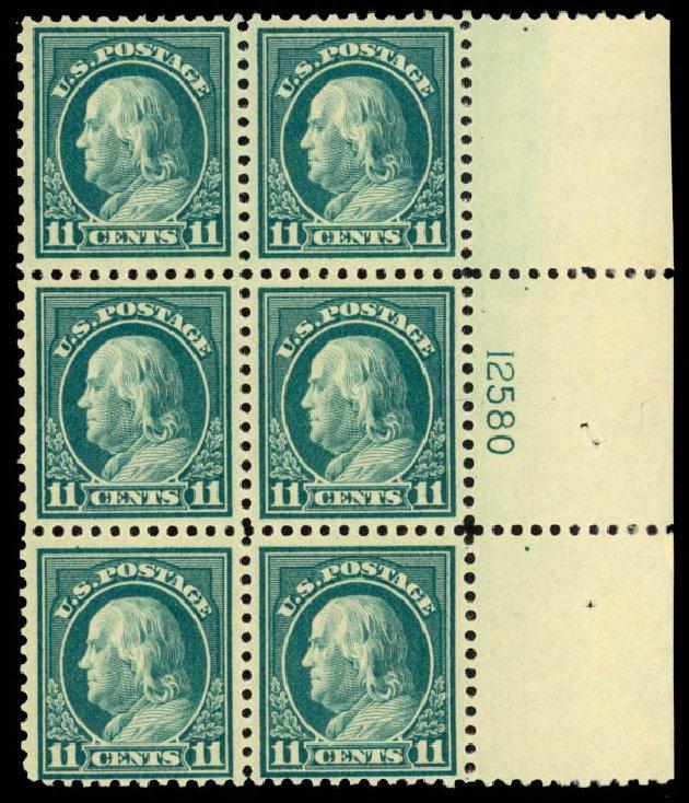 Costs of US Stamps Scott Catalog 511: 1917 11c Franklin Perf 11. Daniel Kelleher Auctions, Mar 2013, Sale 635, Lot 590