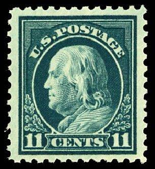 US Stamp Values Scott Catalogue # 511 - 1917 11c Franklin Perf 11. Daniel Kelleher Auctions, Dec 2012, Sale 633, Lot 884