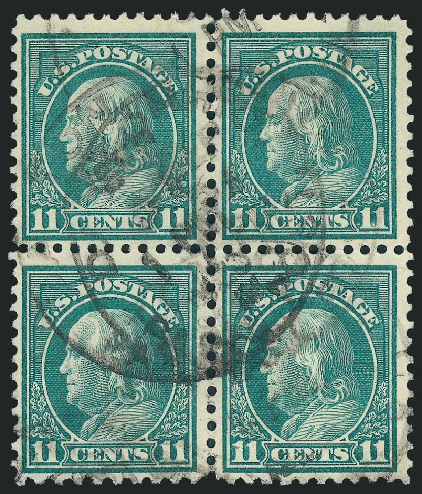 Cost of US Stamp Scott Catalogue #511 - 1917 11c Franklin Perf 11. Robert Siegel Auction Galleries, Sep 2012, Sale 1028, Lot 434