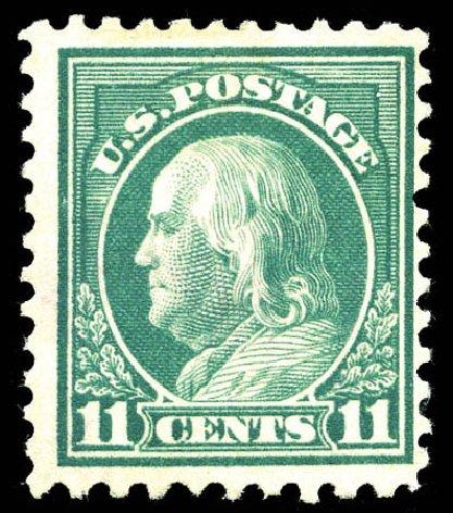 US Stamp Values Scott Cat. 511: 11c 1917 Franklin Perf 11. Matthew Bennett International, Mar 2012, Sale 344, Lot 4635