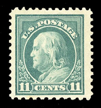 US Stamp Values Scott Cat. #511: 11c 1917 Franklin Perf 11. Cherrystone Auctions, Jan 2014, Sale 201401, Lot 25