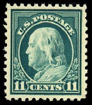 US Stamp Prices Scott Catalogue #511: 11c 1917 Franklin Perf 11. Daniel Kelleher Auctions, Dec 2012, Sale 633, Lot 885